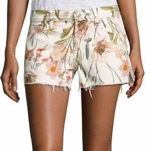 7 For All Mankind Floral Cut-Off Shorts